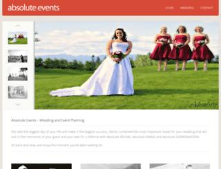 absoluteevents.ca screenshot