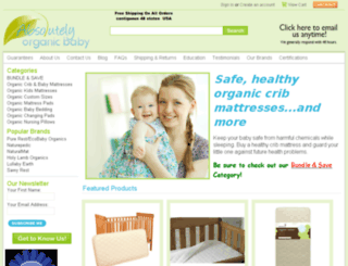 absolutelyorganicbaby.com screenshot