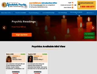 absolutelypsychic.com screenshot