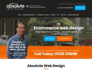 absoluteshoppingcart.co.uk screenshot