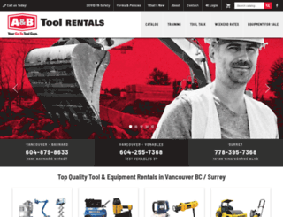 abtoolrentals.com screenshot