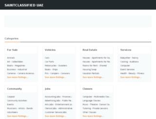 abu-dhabi.saintclassifieduae.com screenshot