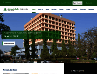 abu.edu.ng screenshot