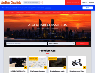 abudhabiclassifieds.com screenshot