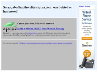 abudhabihoteliers.spruz.com screenshot