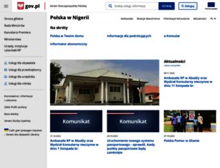 abudza.msz.gov.pl screenshot