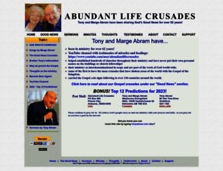 abundantlifecrusades.com screenshot