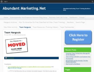 abundantmarketing.net screenshot