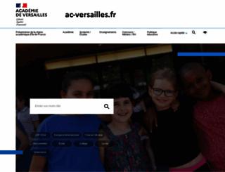 ac-versailles.fr screenshot