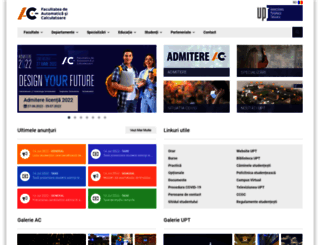 ac.upt.ro screenshot