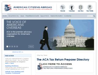 aca.ch screenshot