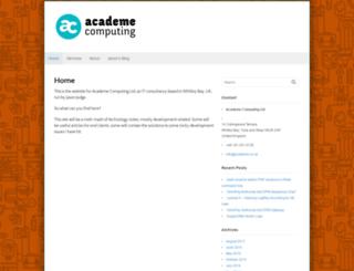 academe.co.uk screenshot