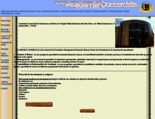 academiacomerciala.ro screenshot