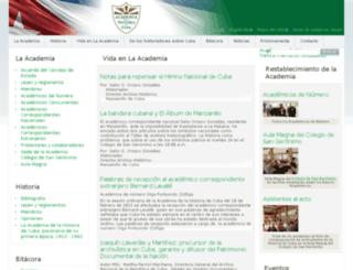 academiahistoria.cu screenshot