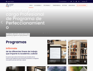 academiajudicial.cl screenshot