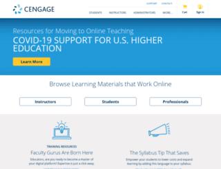 academic.cengage.com screenshot
