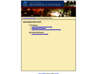 academic.lamission.edu screenshot