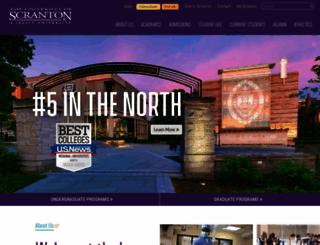 academic.scranton.edu screenshot