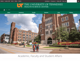 academic.uthsc.edu screenshot