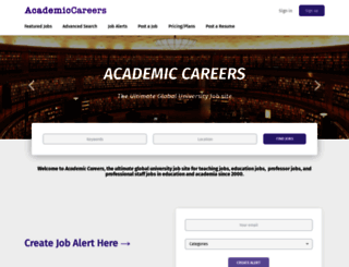 academiccareers.com screenshot