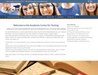 academiccenterfortesting.com screenshot