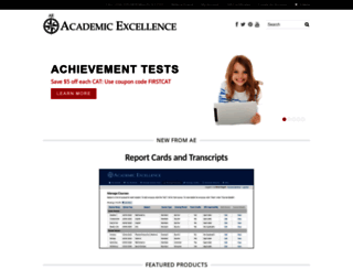 academicexcellence.com screenshot