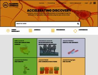 academicjournals.org screenshot