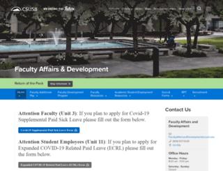 academicpersonnel.csusb.edu screenshot