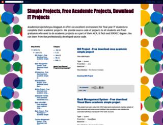 academicprojectsforyou.blogspot.com screenshot