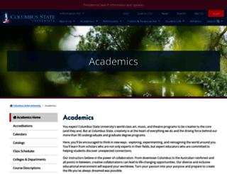 academics.columbusstate.edu screenshot