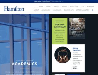 academics.hamilton.edu screenshot