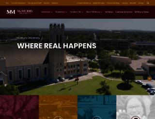 academics.mcm.edu screenshot