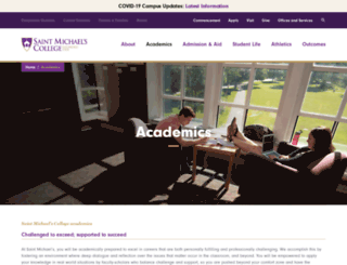 academics.smcvt.edu screenshot