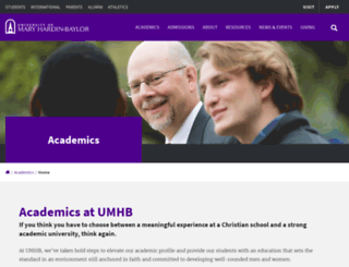 academics.umhb.edu screenshot