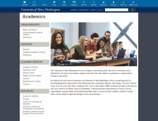 academics.umw.edu screenshot