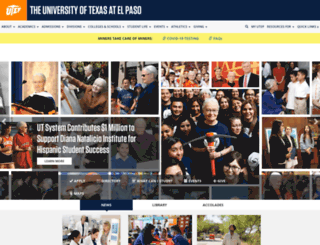 academics.utep.edu screenshot
