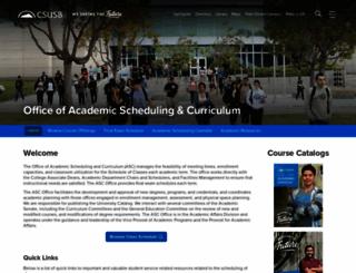 academicscheduling.csusb.edu screenshot
