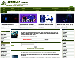 academictutorials.com screenshot