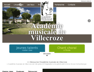 academie-villecroze.com screenshot
