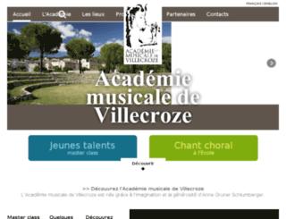 academie-villecroze.com screenshot