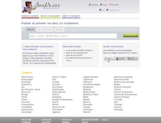 academon.fr screenshot