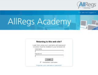 academy.allregs.com screenshot
