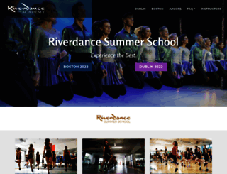 academy.riverdance.com screenshot