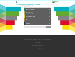 academyofartuniversitystudent.net screenshot
