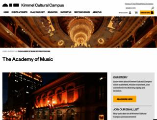 academyofmusic.org screenshot
