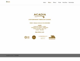 acadiachicago.com screenshot