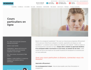 acadomiaonline.fr screenshot