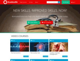 acadoodle.com screenshot