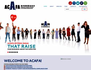 acafa.org screenshot
