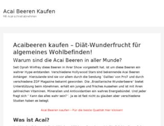 acaibeerenkaufen.com screenshot